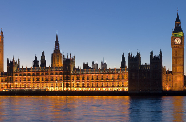 London attractions of Palace of Westminster