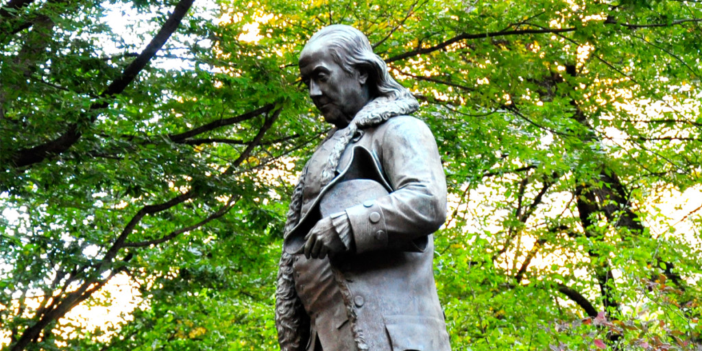 Benjamin Franklin Statue on the Freedom Trail in Boston