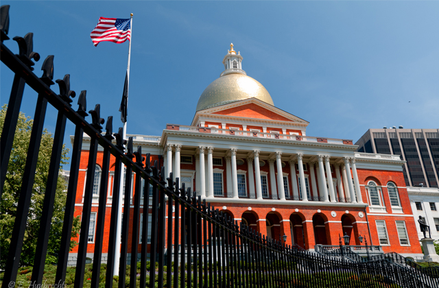 Massachusetts State House on the Freedom Trail in Boston