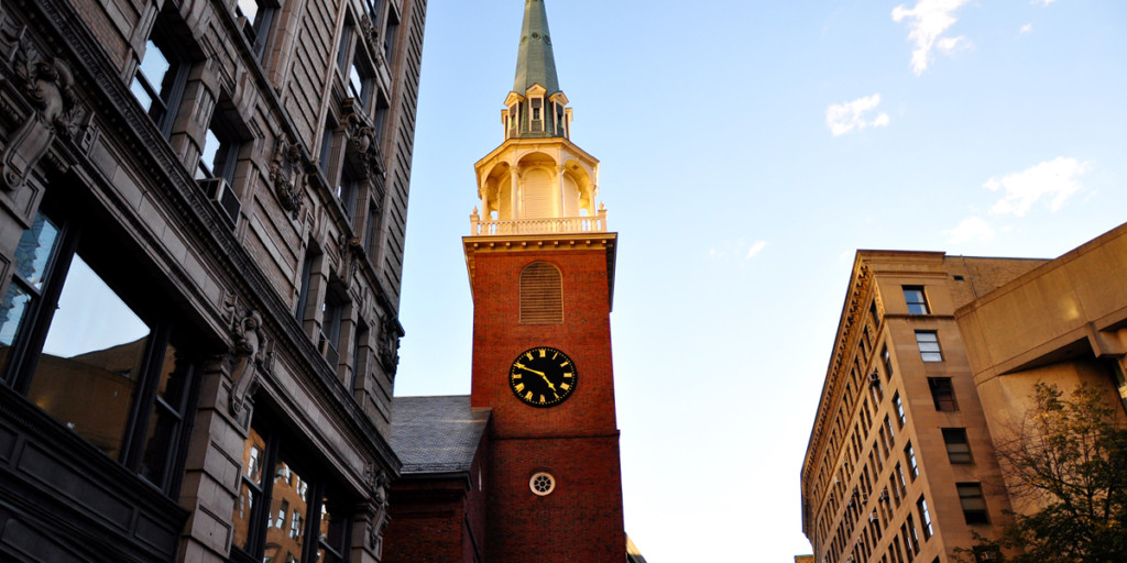 Old South Meeting House on the Freedom Trail in Boston
