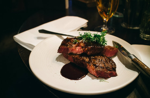 Steak at the best restaurant in Boston. Image source: Flickr