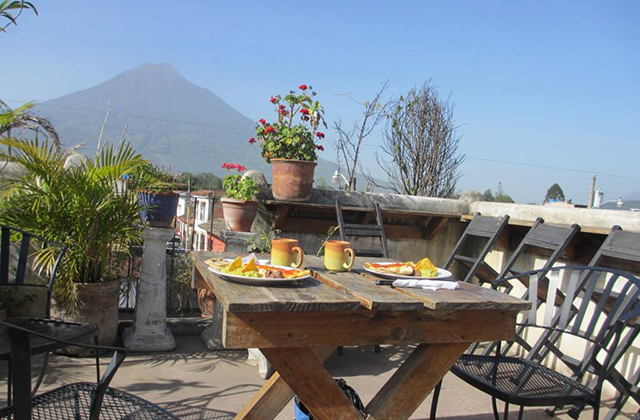 antigua guatemala hotels - Terrace Hostel Rooftop Bar & Grill