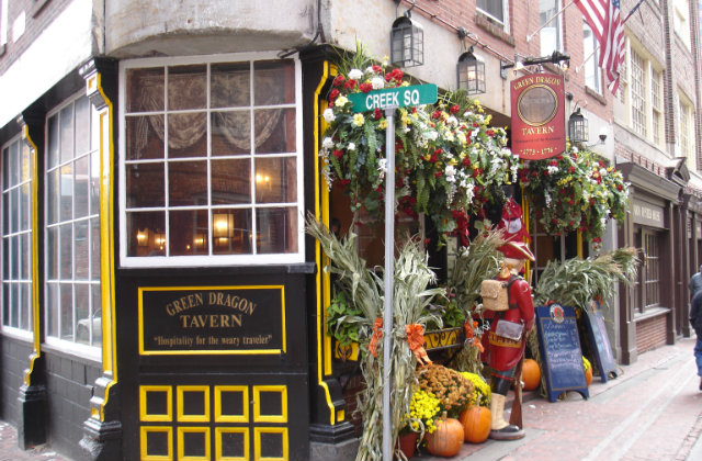 The Green Dragon Tavern in Boston. Image source: Flickr