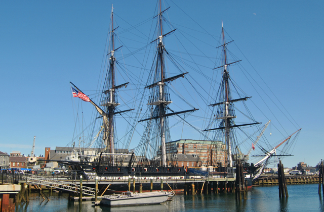 USS Constitution at the end of the Freedom Trail in Boston