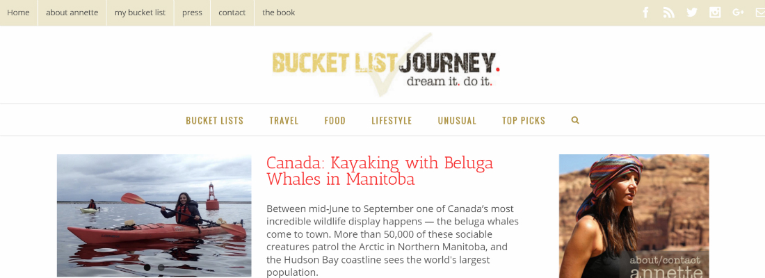 Bucket List Journey by Annette White